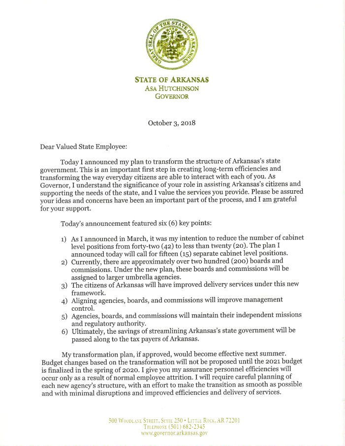 18.10.03 Governor's Letter to State Employees Regarding Transformation P..__Page_1